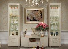 Модульная стенка в гостиную «Ирис» Бодега светлый