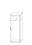 Шкаф для одежды низкий (21) гостиная «Парма Люкс» венге
