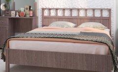 Кровать двуспальная Люкс + металл основание «Sherlock» ясень анкор темный