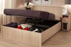 Двуспальная кровать с подъемным механизмом «Sherlock» дуб сонома