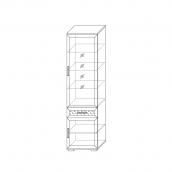 Шкаф 600 со стеклом (3) гостиная «Парма Люкс» Венге