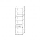 Шкаф 600 (4) гостиная «Парма Люкс» Венге