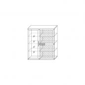 Полка 3-х дверная (1 стеклодверь) (13) гостиная «Парма Люкс» Венге