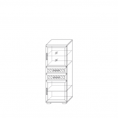 Шкаф низкий со стеклом (6) гостиная «Парма Люкс»