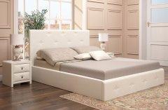 Мягкая двуспальная кровать с орт.основанием «Линда Люкс»