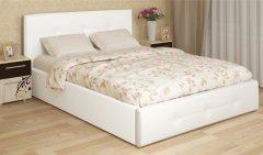 Мягкая двуспальная кровать с орт.основанием «Линда»