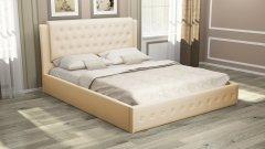 Мягкая двуспальная кровать с подъемным механизмом «София»
