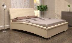 Мягкая двуспальная кровать с орт.основанием «Каприз»