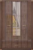 Шкаф для одежды с ящиками 3-х дверный с зеркалом 01 «Париж»
