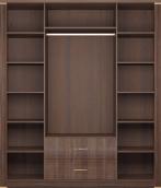 Шкаф для одежды с ящиками 4-х дверный (с зеркалами) 02 «Париж»