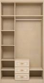 Шкаф для  одежды 3- дв. с ящиком 01 «Милан»
