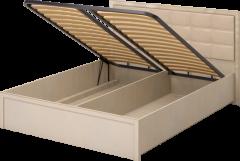 Кровать двуспальная с подъёмным механизмом и мягким элементом 08 «Милан»