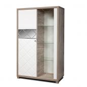 Шкаф с витриной КМК 0650.4(5) «Кристал»