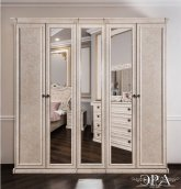 Шкаф 5-ти створчатый с зеркалом «Афина» Корень ясеня