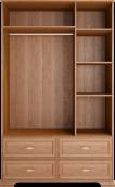 Шкаф для одежды 3-х дв с ящиками (без зеркала) 01 «Венеция» Клён торонто