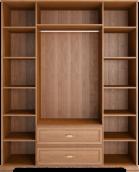 Шкаф для одежды 4-х дверный с ящиками с зеркалом 02 «Венеция» Клён торонто