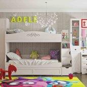Кровать двухъярусная 90 «ADELE» Ясень анкор светлый