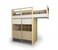 Кровать-чердак со шкафом «Робин Wood»