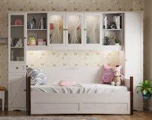 Кровать с дополнительным спальным местом «ADELE» Ясень анкор светлый