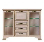 Шкаф низкий (2 стеклодвери) (4) «Сиена»