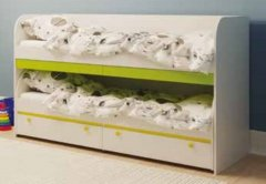 Кровать двухъярусная с ящикам КР-06 «Мамба»