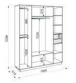 Шкаф 4-х дверный без зеркала М21 «Тиффани»