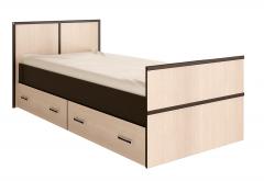 Кровать односпальная 900х200 с ящиками «Сакура»
