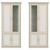 Шкаф 4-х дверный (1 стеклодверь) «Венето»