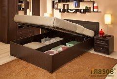 Двуспальная кровать с подъемным механизмом «Анкона»
