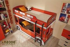 «Автобус» детская кровать двухъярусная