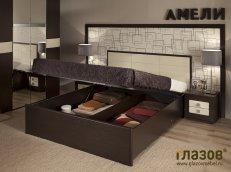 Двуспальная кровать с подъемным механизмом «Амели» Люкс