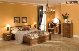 Модульная мебель для спальни «Милана» Орех