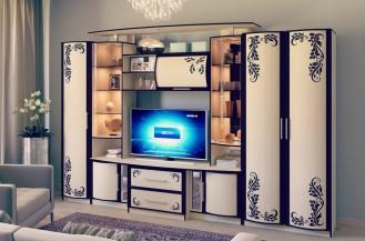 Модульная гостиная стенка «Кристина» фотопечать