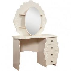 «Жемчужина» стол туалетный с зеркалом КМК 0380.10