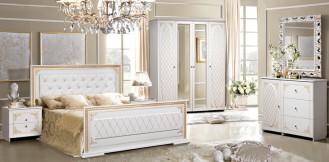 Мебель для спальни «Верона» КМК Патина золото
