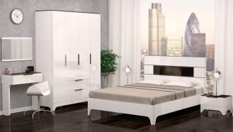 Модульная мебель для спальни «Танго» Белый глянец