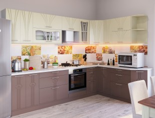 Модульный кухонный гарнитур «Лира» вариант 4