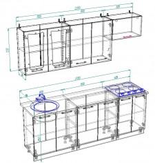 Модульный кухонный гарнитур «Лира» вариант 2