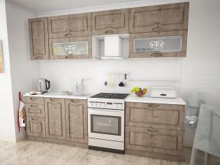 Модульный кухонный гарнитур «Сопрано» Пино