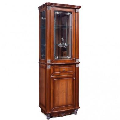 Гостиная «Баккара» шкаф с витриной 2Д1Я 0441.8 (витрина с рисунком)