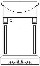 Тумба под раковину 500 «Амелия» КМК 0455.9-01