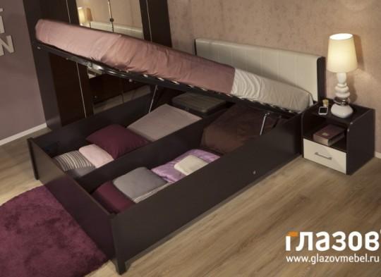 «BERLIN» Двуспальная кровать с подъемным механизмом