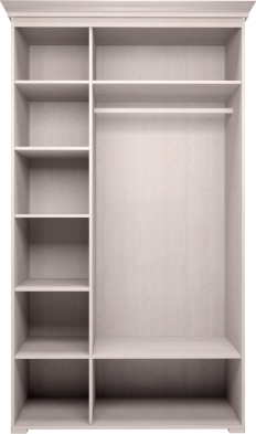 Шкаф для платья и белья 3-х дв без зеркала 06 «Афродита» без карниза