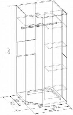 «Марсель» Шкаф угловой 10 Фасад Стандарт
