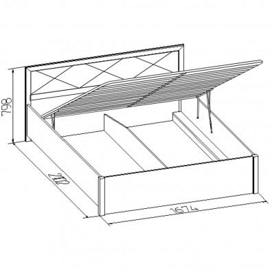 «Марсель» Кровать двуспальная с подъемным механизмом