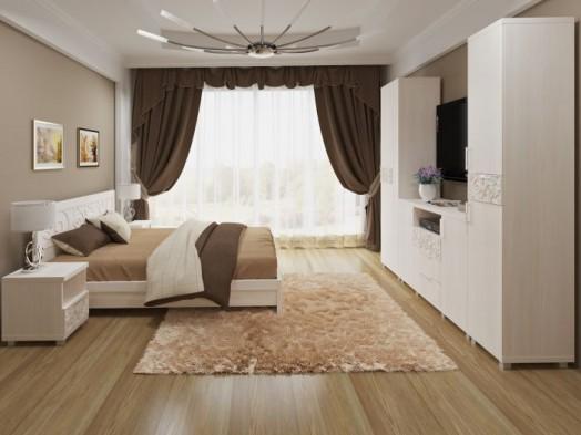 Модульная гостиная стенка «Ирис» Бодега светлый