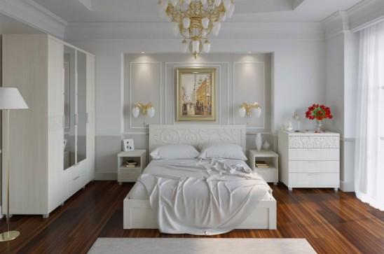 Модульная спальня «Ирис» Бодега светлый