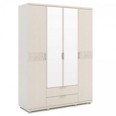 Шкаф для одежды 4-х дверный с ящиками 06 «Ирис» Бодега светлый
