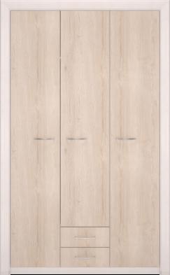 Шкаф для одежды 3-х дв без зеркала 06 «Мальта»