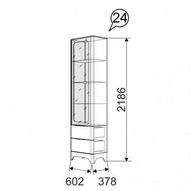 Шкаф комбинированный 24 «Танго»